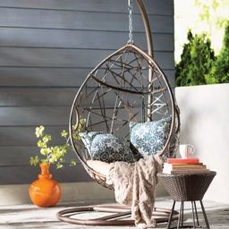 Destiny Tear Drop PVC Swing Chair with Stand | Wayfair North America