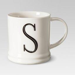 Monogrammed Porcelain Mug 15oz White with Black Letter - Threshold™ | Target