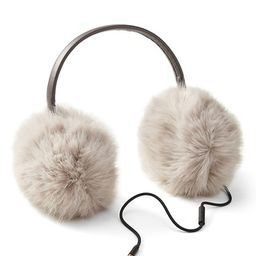 Faux Fur Earmuffs with Headphones   Banana Republic US