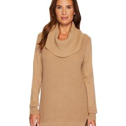 MICHAEL Michael Kors Shaker Long Sleeve Cowl Sweater   Zappos