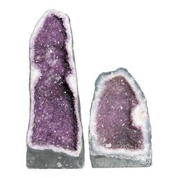 Brazilian Amethyst Cathedrals - A Pair | Chairish