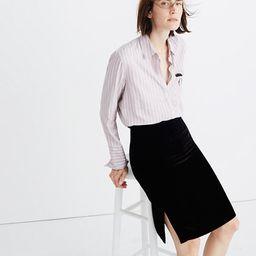 Velvet Pencil Skirt   Madewell