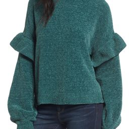 Ruffle Chenille Sweater | Nordstrom