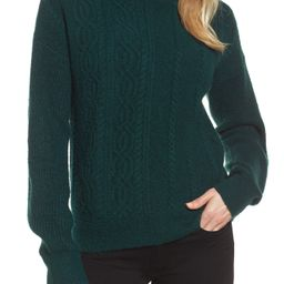 Mock Neck Cable Knit Sweater | Nordstrom