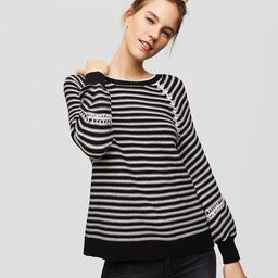 Striped Whipstitched Sweater | LOFT
