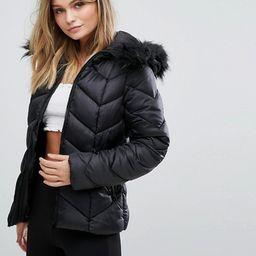 New Look Chevron Padded Jacket | ASOS US