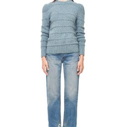 La Vie Donegal Tweed Ribbed Pullover | Rebecca Taylor