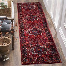 Safavieh Vintage Hamadan Traditional Red/ Multi Runner Rug (2' x 8') | Overstock