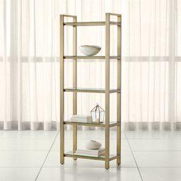 Pilsen Brass Bookcase | Crate & Barrel