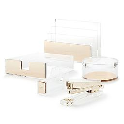 kate spade new york Strike Gold™ Desk Accessory Collection | Bed Bath & Beyond