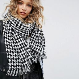 Reclaimed Vintage Inspired Houndstooth Oversized Scarf | ASOS US