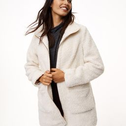 Fleece Funnel Jacket | LOFT