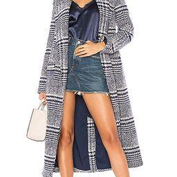 Lovers + Friends x REVOLVE Sabra Coat in Blue Check | Revolve Clothing