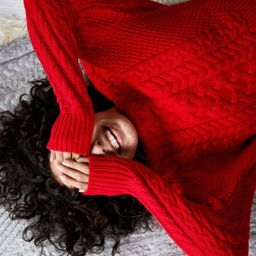 Aerie Cable Sweater, Holiday Red | American Eagle Outfitters (US & CA)