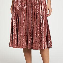 Pleated Velvet Skirt | Shopbop