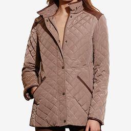Lauren Ralph Lauren Faux-Leather-Trim Quilted Jacket, Created for Macy's   Macys (US)