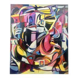 Deon Robertson Abstract Oil on Canvas   Chairish