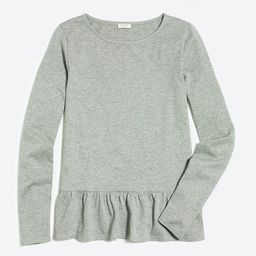 Long-sleeve ruffle hem T-shirt | J.Crew Factory