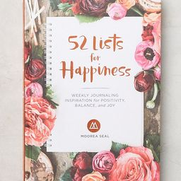 52 Lists for Happiness Journal | Anthropologie (US)