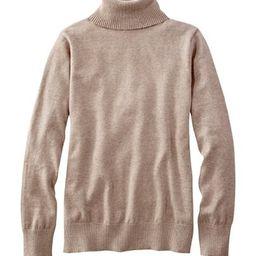 Cotton/Cashmere Sweater, Turtleneck   L.L. Bean