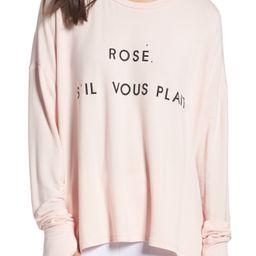 Rosé Please Sweatshirt | Nordstrom
