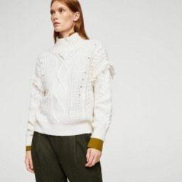 Fringed cable-knit sweater   MANGO (US)