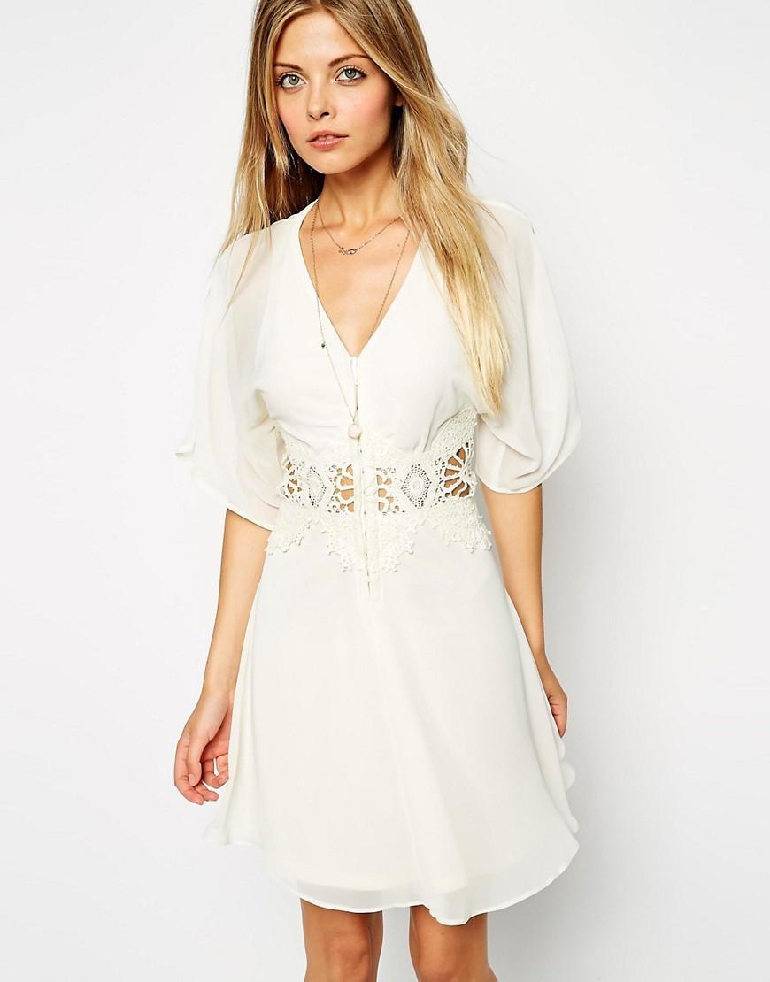 ed9fddb1ab3 Asos Petite Kimono Mini Dress With Lace Insert - Gomes Weine AG