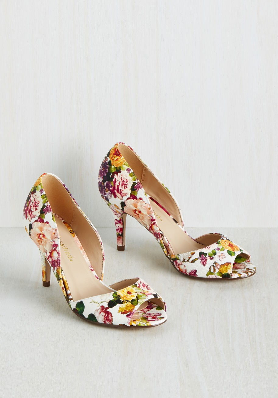 ce206467038b Shop item. gold shoes with florals. floral donut with champagne.  Advertisement. email advertise greenweddingshoes.com ...