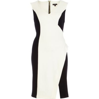 asymmetrical-black-and-white-dress