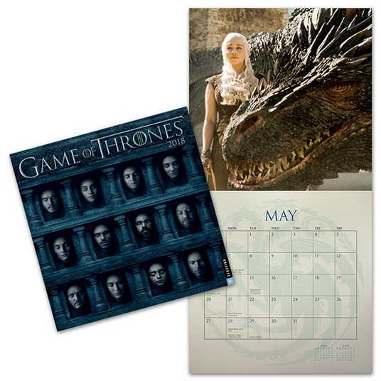 2018 Game of Thrones Wall Calendar