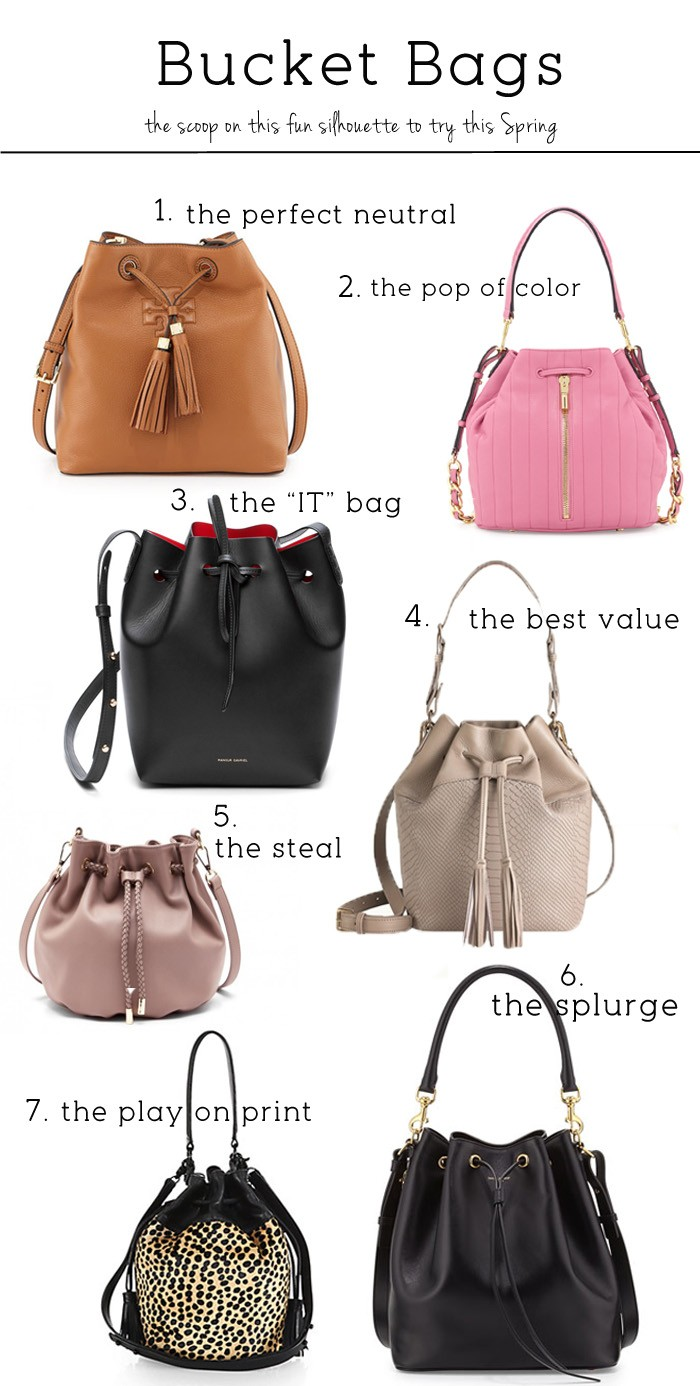 bucket bags, neutral bags, value bags