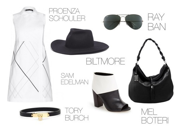 End Of Summer Style: How To Make It All Black & White | Party Outfits | Mel Boteri