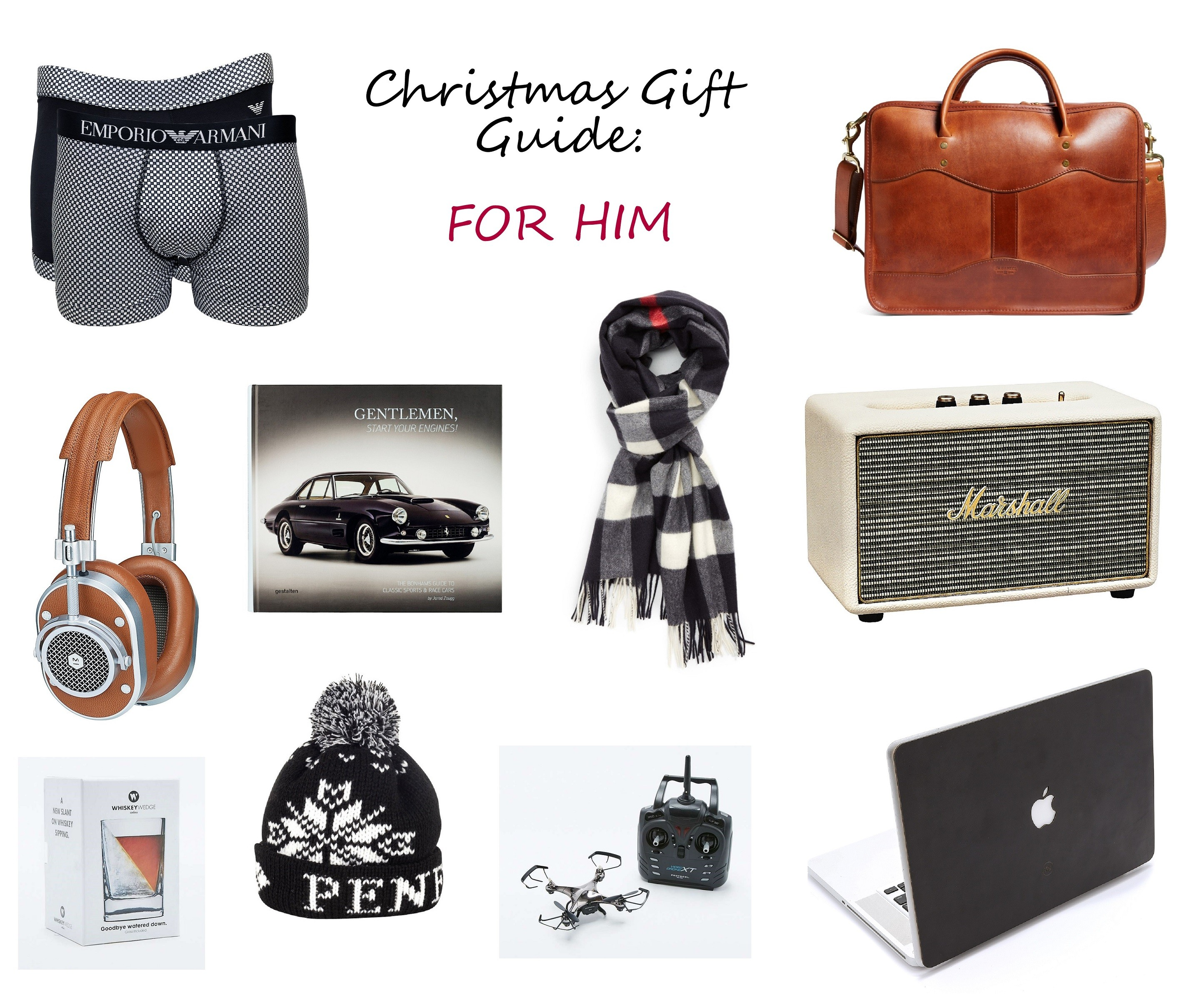 christmas gift guide for him holiday present ideas for men father boyfriend husband brother