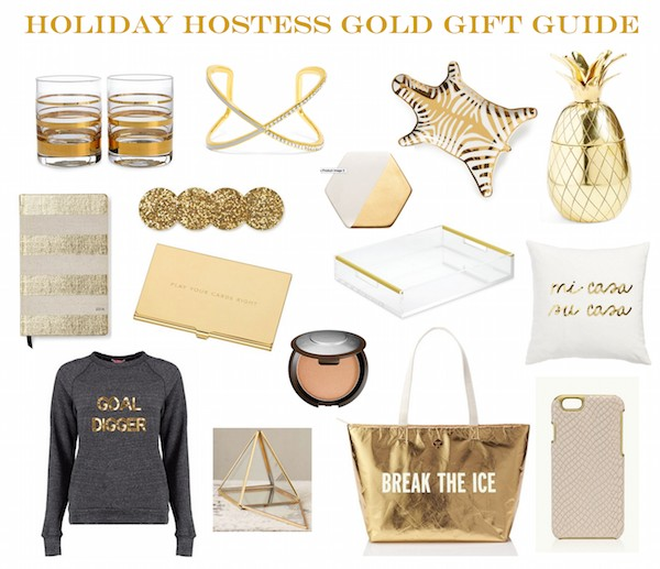 Best Holiday Gift Guide Gold Gift Guide Hostess Gifts Holiday hostess gifts The Supper Model