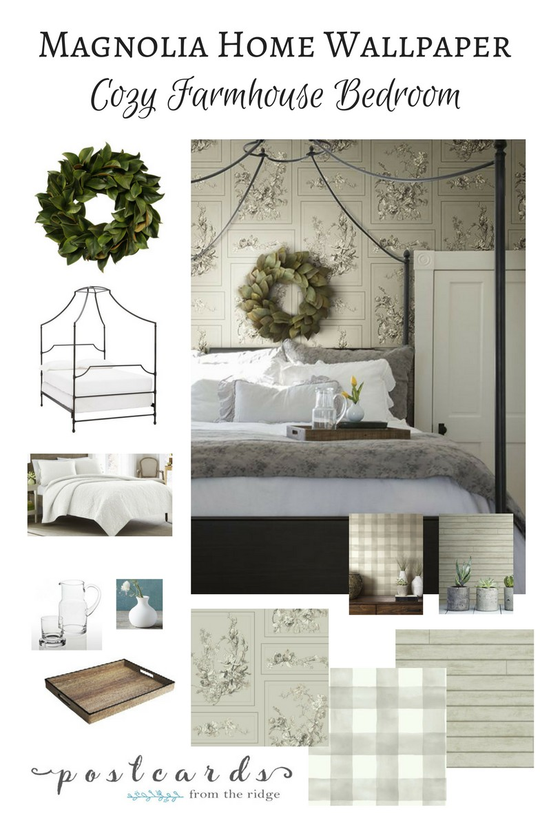 magnolia home joanna gaines wallpaper magnolia farmhouse bedroom