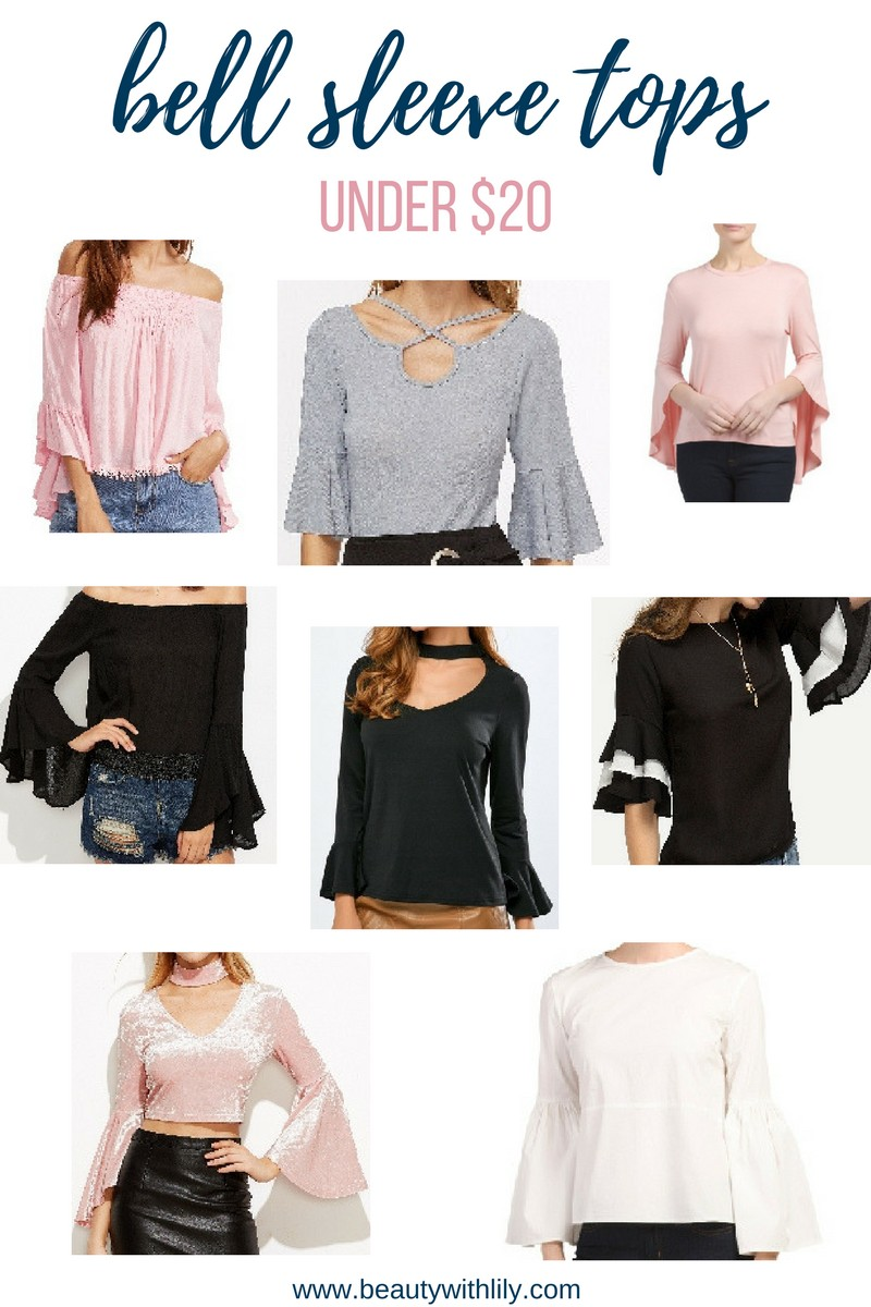 Trendy Bell Sleeve Tops For UNDER $20 // Bell Sleeve Tops For Spring/Summer // Cute Tops | beautywithlily.com