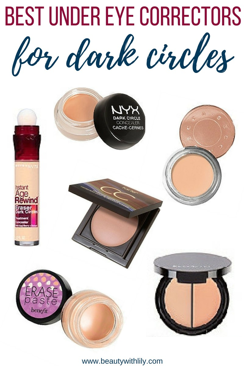 Best Under Eye Correctors For Dark Circles // How To Cover Dark Circles | beautywithlily.com