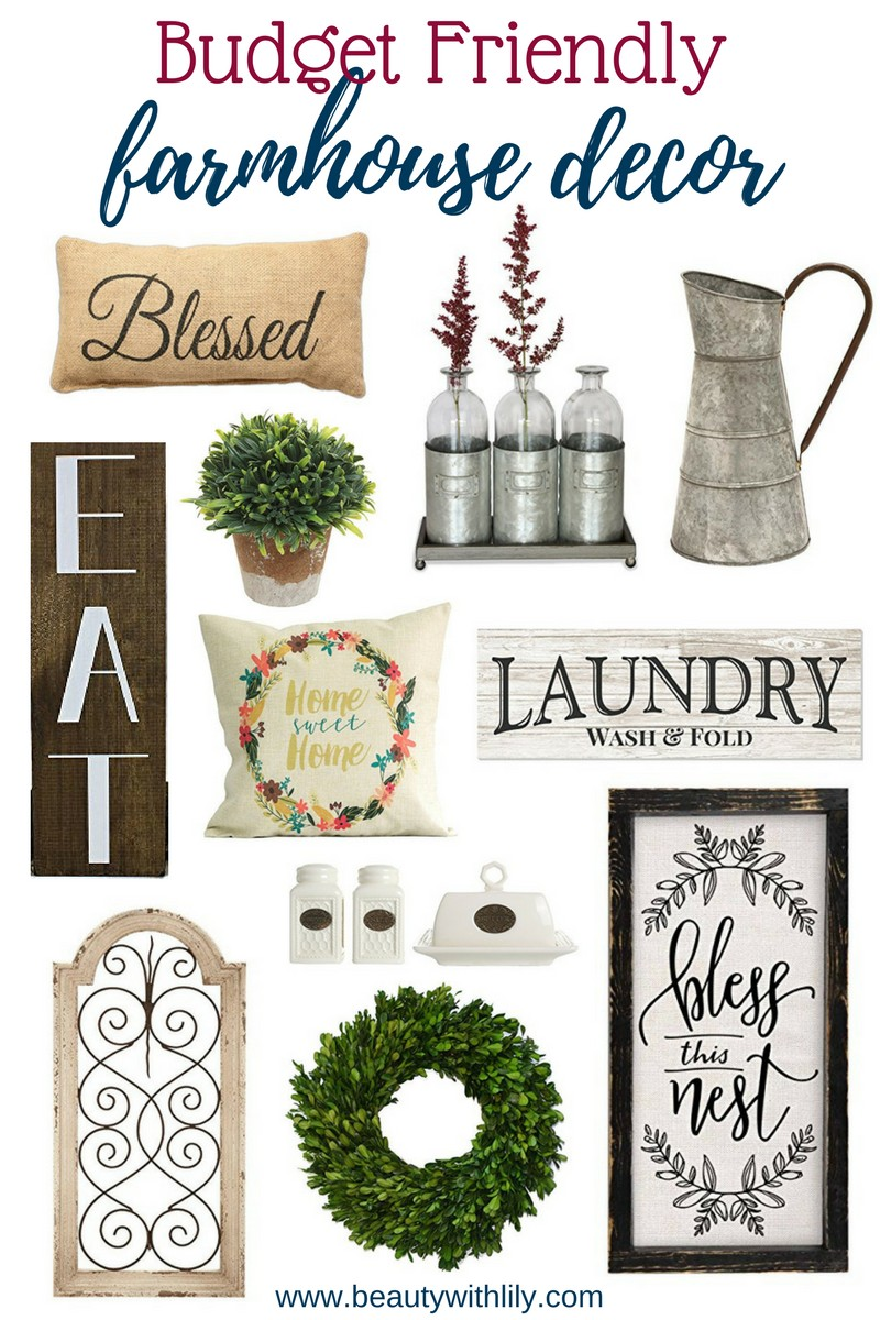 Budget Friendly Farmhouse Decor on Amazon | Beauty With Lily, A Beauty, Fashion & Lifestyle West Texas Blog