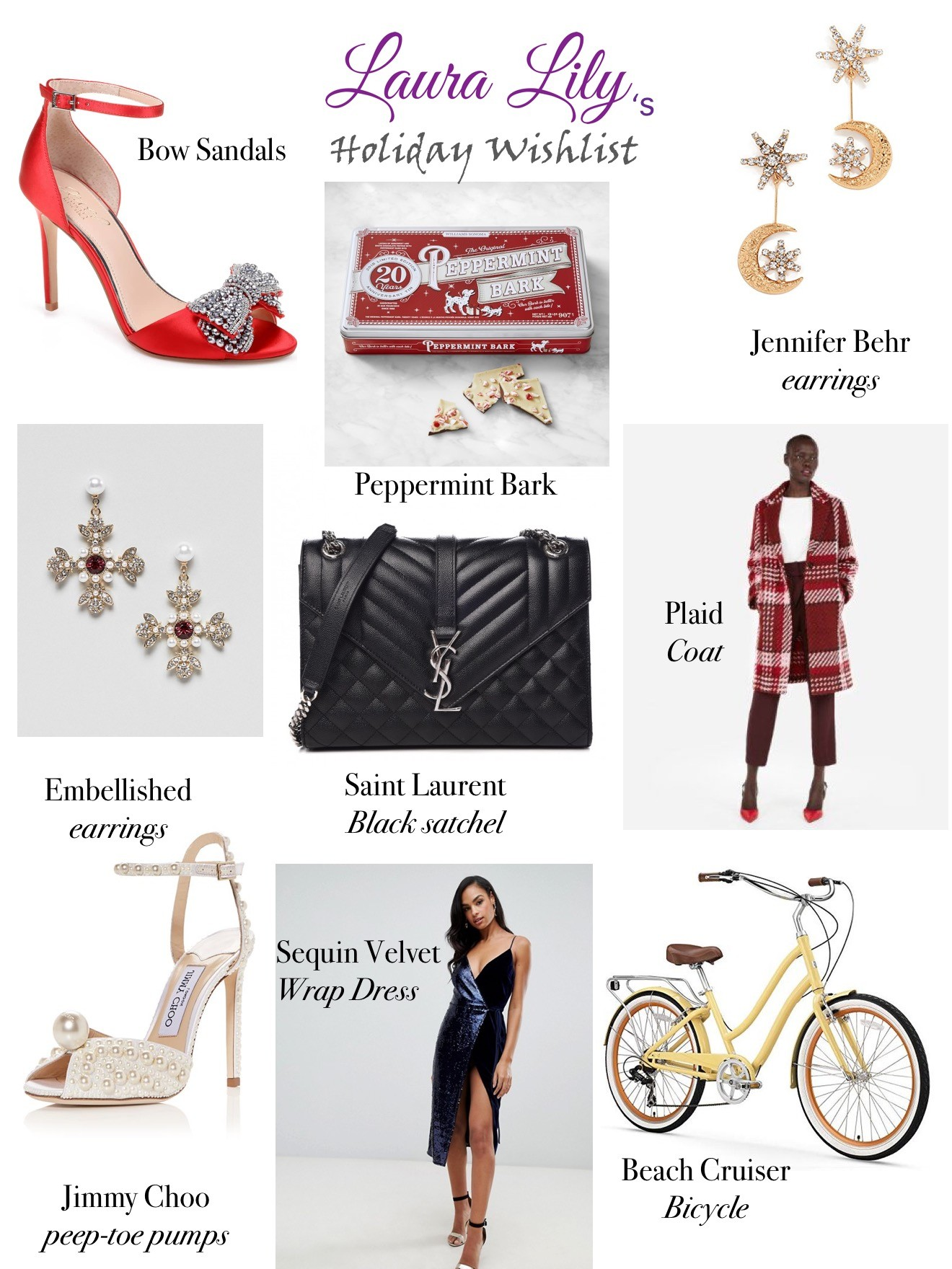 Christmas | Nordstrom | Saint Laurent | Jimmy Choo | Express | William-Sonoma | My Holiday Wishlist featured by top Los Angeles life and style blogger Laura Lily