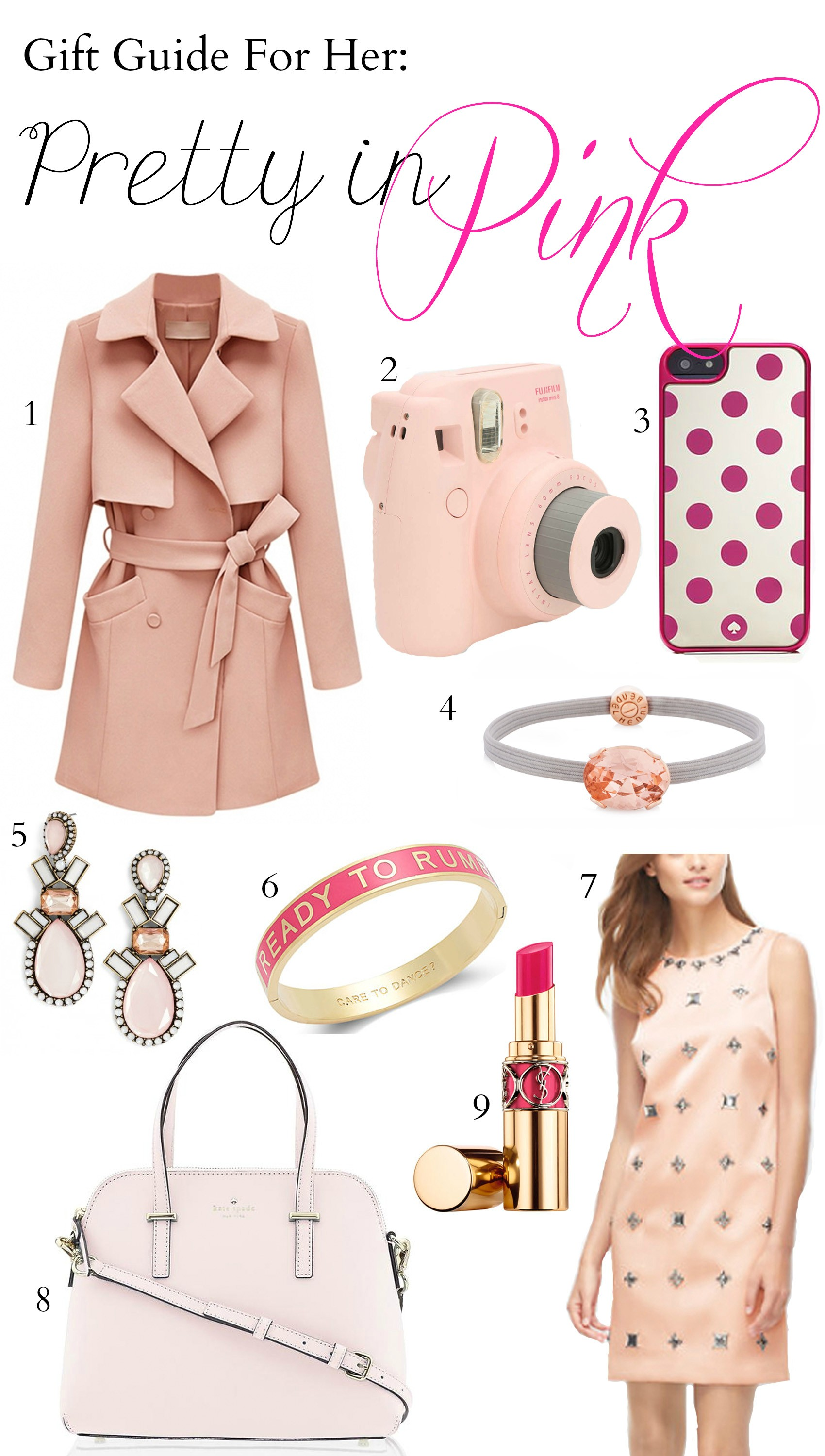 Fashion blogger Mash Elle shares gift ideas for the girl who loves all things pink!