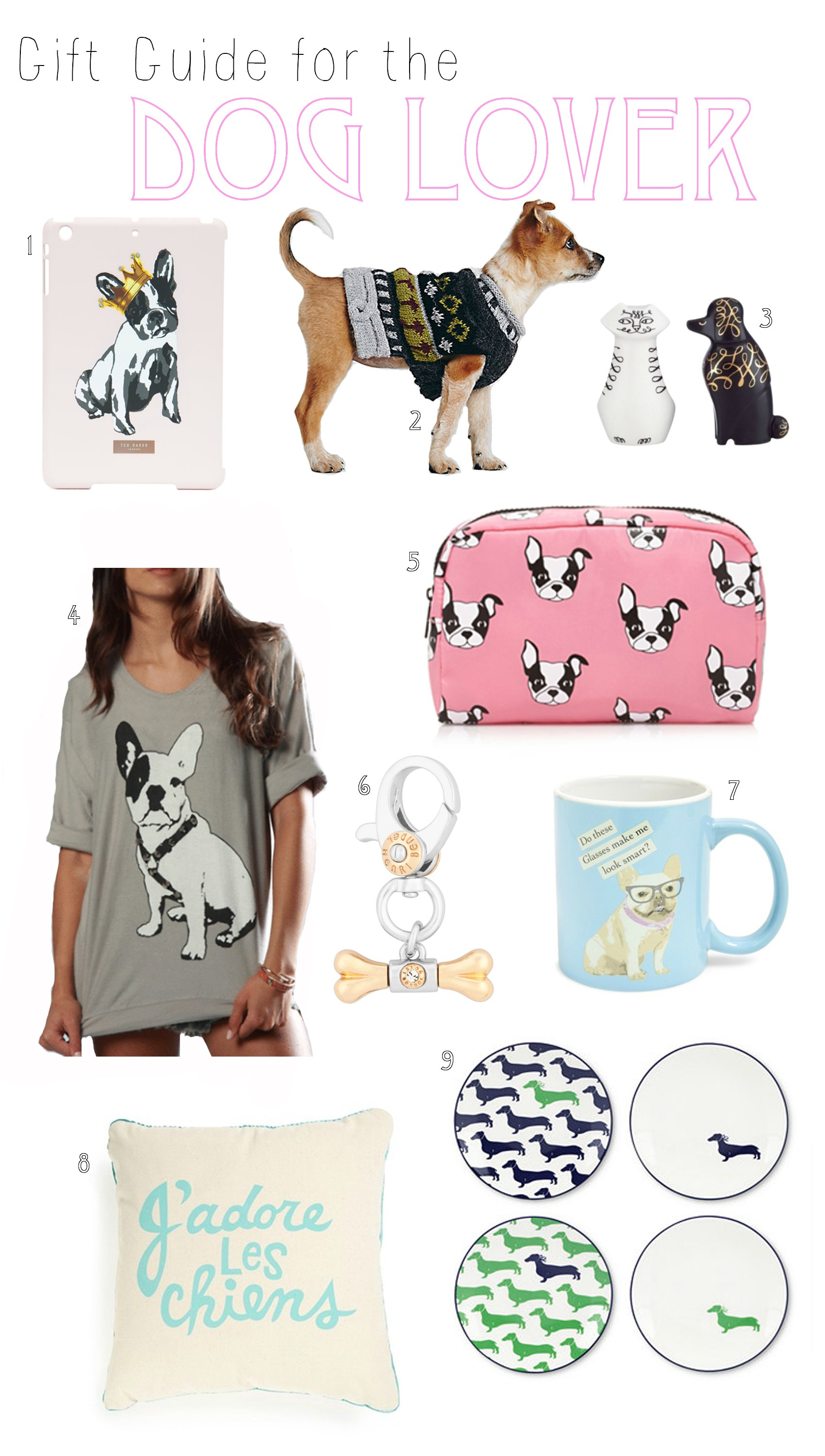 Blogger Mash Elle shares the best Christmas gifts for the dog lover | mug with a dog | dog pillow | dog makeup bag