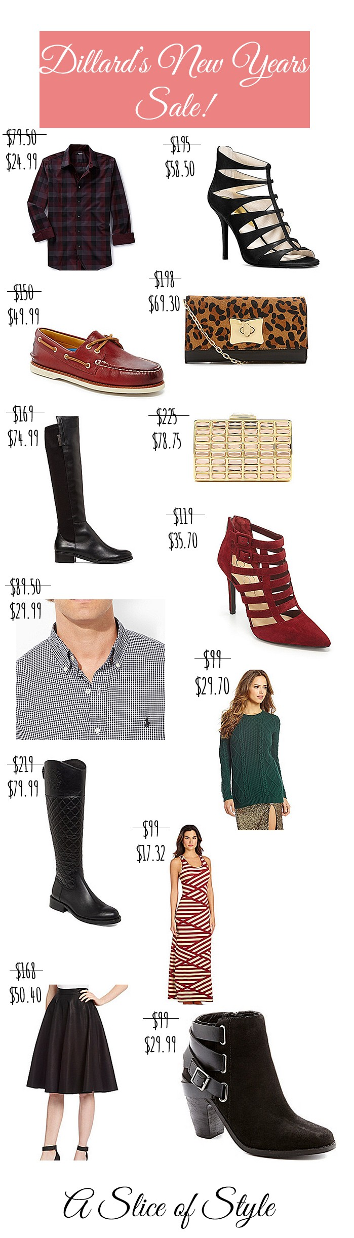 Dillard's New Years Sale favorites featured by top US life and style blog, A Slice of Style