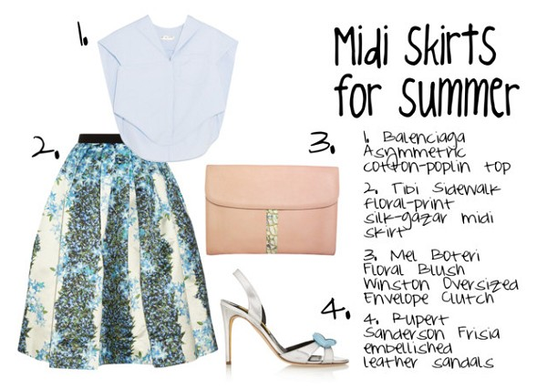 Midi Skirts for Summer 2015 According to Google's Fashion Trends Report