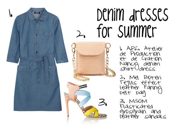 Denim Dress for Summer 2015 According to Google Fashion Trend Report