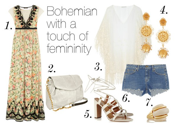 Style guide: Top 5 Boho Looks We Love – Bohemian with a touch of femininity – Mel Boteri