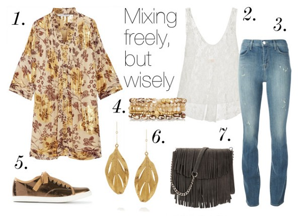Style guide: Top 5 Boho Looks We Love – Mixing freely, but wisely – Mel Boteri