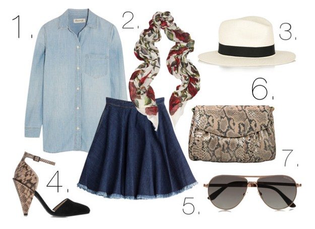 Mel Boteri Style Guide: How To Wear The Trendy Denim Skirt | Denim on Denim | Mel Boteri