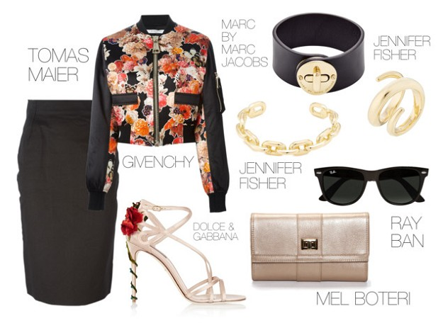 Style Trend: The Bomber Jacket in 2015 | Floral | Mel Boteri