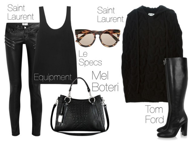 All-black Looks for Winter: How to Create Modern All Black Outfits | Rely on Volume Plays and Defined Sizes | Mel Boteri Style Guide