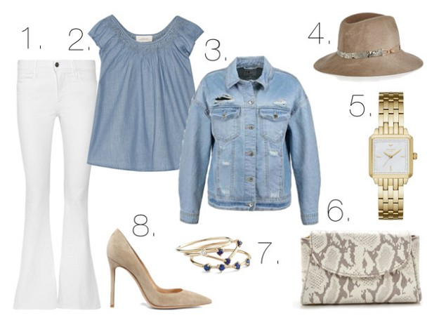 Summer Chic: Denim in Hot Weather | White Jeans, Denim Top and Jacket | Mel Boteri Style Guide